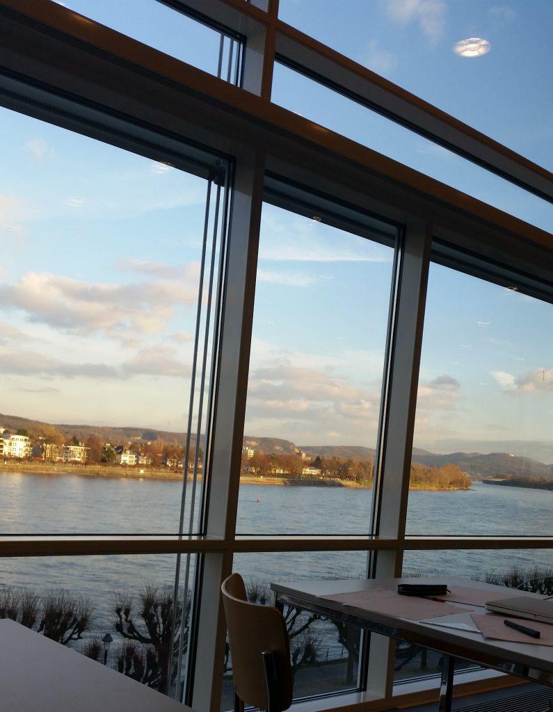 Blick aus der ULB auf den Rhein